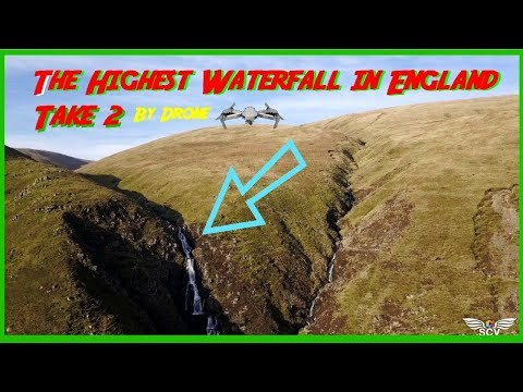 🌄 Flying down THE HIGHEST WATERFALL IN ENGLAND🌄...by drone..Cautley Spout